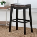 Abbyson Living Raffia Bar Stool with Cushion; 30''