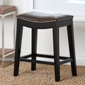 Abbyson Living Raffia Bar Stool with Cushion; 24''