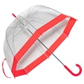 Elite Rain Clear Bubble Umbrella; Red Trim