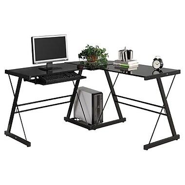 Home Loft Concept Corner puter Desk Black Black