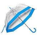 Elite Rain Clear Bubble Umbrella; Blue Trim