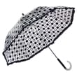 Elite Rain Auto-Open Polka Dot Ruffle Umbrella; Black