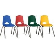 ECR4Kids 16'' Stack Chair (Set of 6); Swivel Glide