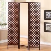 Stonegate Designs Furniture 70'' x 51.5'' Paris Boutique Mirrored Dressing 3 Panel Room Divider