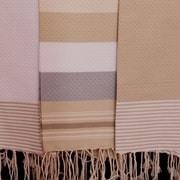 Scents and Feel Fouta Honeycomb Weave Towel; White