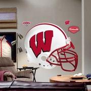 Fathead College Teams NCAA Helmet Wall Decal; Wisconsin