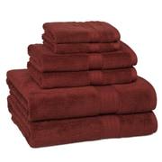 Kassatex Kassadesign Egyptian Cotton 6 Piece Towel Set; Red