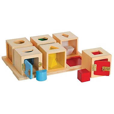 Guidecraft Peekaboo Lock Boxes Set of 6