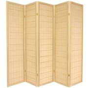 Oriental Furniture 72'' x 70'' Kimura Shoji 5 Panel Room Divider; Natural