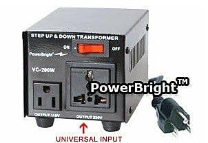 Power Bright 200W Step Up / Down Voltage Transformer WYF078275550206