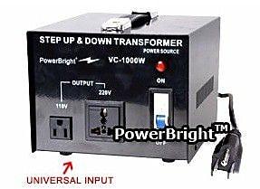 Power Bright 1000W Step Up / Down Voltage Transformer WYF078275551324