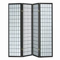Hazelwood Home 70'' x 70'' Sonji 4 Panel Room Divider; Black