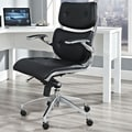 Modway Push Mid-Back Office Chair with Arms; Black