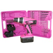The Original Pink Box Cordless Drill with Carrying Case