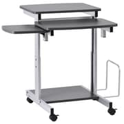 Buddy Products Capri Compact PC Workstation; Charcoal and Silver