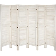 Oriental Furniture 67'' x 100'' Tall Modern Venetian 6 Panel Room Divider; White