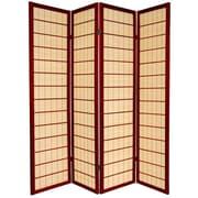 Oriental Furniture 72'' x 56'' Kimura Shoji 4 Panel Room Divider; Rosewood