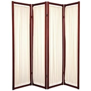 Oriental Furniture 72'' x 56'' Helsinki Shoji 4 Panel Room Divider; Rosewood