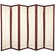 Oriental Furniture 72'' x 84'' Helsinki Shoji 6 Panel Room Divider; Rosewood