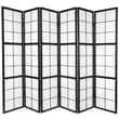 Oriental Furniture 71.5'' x 84'' Mado Shoji 6 Panel Room Divider; Black
