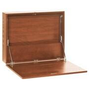 Buddy Products Floating Desk; Medium Oak