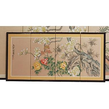 Oriental Furniture 18'' x 36'' Harmony 4 Panel Room Divider