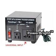 Power Bright 500W Step Up / Down Voltage Transformer