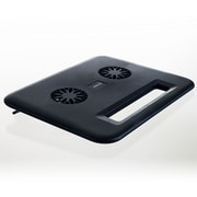 "Kinyo® Compact Laptop Cooling Pad With USB Dual Fan, 1/2""(H) x 12""(W) x 9 1/2""(D)"