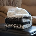 Lavish Home Fleece Sherpa Animal Pattern Throw Blankets, Assorted Patterns