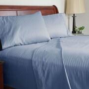 Lavish Home 300 Thread Count Cotton Sateen 4 Piece Sheet Set, King, Blue