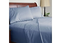 Lavish Home 300 Thread Count Cotton Sateen 3 Piece Sheet Set, Twin XL, Blue