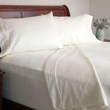 Lavish Home 300 Thread Count Cotton Sateen 4 Piece Sheet Set, Full, Bone