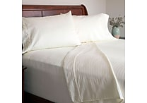 Lavish Home 300 Thread Count Cotton Sateen 4 Piece Sheet Set, Full, Bone