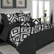 Lavish Home Barcelona Polyester 7 Piece Comforter Set, King, Silver/Black