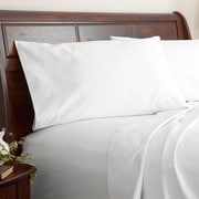 Lavish Home 1000 Thread Count Cotton Sateen 4 Piece Sheet Set, King, White