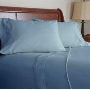 Lavish Home 600 Thread Count Cotton Sateen 4 Piece Sheet Set, Queen, Blue