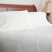 Lavish Home 600 Thread Count Cotton Sateen 4 Piece Sheet Set, King, White