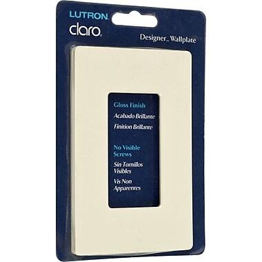 Lutron® Claro Single Gang Rocker Gloss Wallplate, Almond