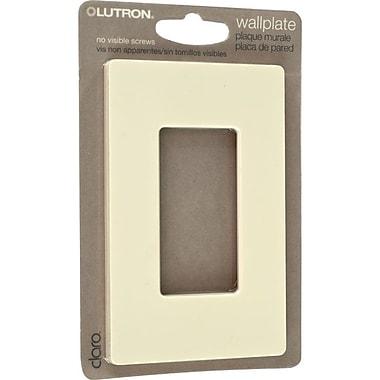 Lutron® Claro Single Gang Rocker Wallplate, Almond