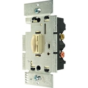 Lutron® Qoto™ 600 W Single-Pole Wall Dimmer With Switch, Ivory