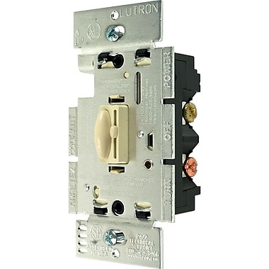 Lutron® Qoto™ 600 W 3 Way Wall Dimmers With Switch