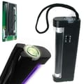Stalwart™ 2-In-1 UV Torch Light and UV Counterfeit Money Detector, Black