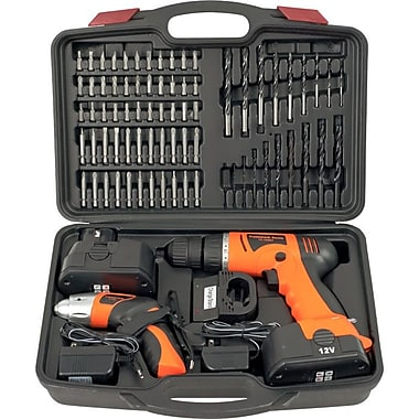 Stalwart™ 75-10601 74 Piece Combo Cordless Drill and Driver Set