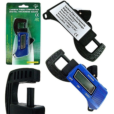 Stalwart™ 75-15005 Digital Thickness Gauge Micrometer Caliper, 0 - 12mm, Blue