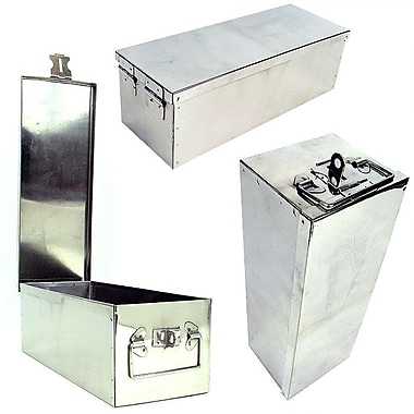 Stalwart™ 75-500 Oversized 12in. Metal Storage Lock Box, Silver
