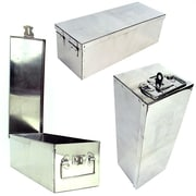 Stalwart™ 75-500 Oversized 12 Metal Storage Lock Box, Silver