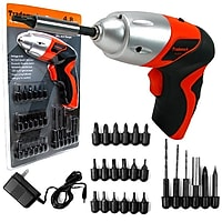 Trademark 75-60100 25-Piece 4.8V Cordless Screwdriver with LED