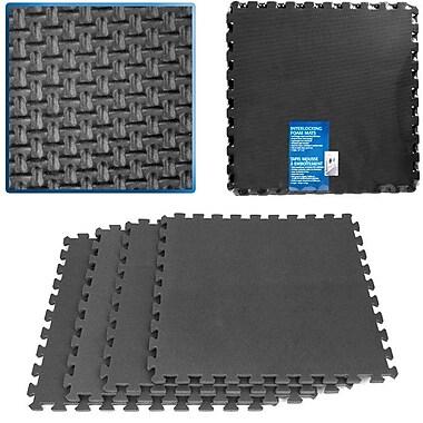 Stalwart™ 2' x 2' Ultimate Comfort Foam-rubber Flooring, Black