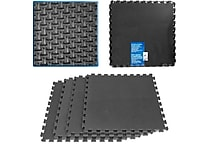 Stalwart™ 2' x 2' Ultimate Comfort Foam-rubber Flooring, Black