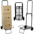 Stalwart™ Up to 80 lbs. Capacity Folding Rolling Utility Cart, Black